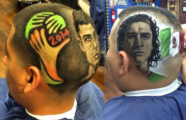 Saçlara yapılan sanat!