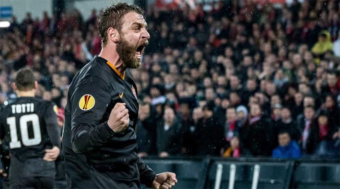 Olaylı maç Roma'nın