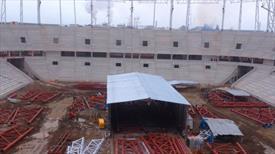 Samsun'u heyecan sardı! İşte yeni stadın son hali!